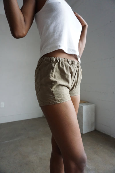 SALE Tan Cotton Shorts, Sz. S