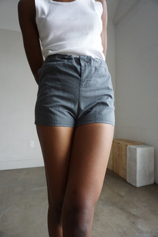 High Waist Charcoal Gray Shorts, Sz. S - M