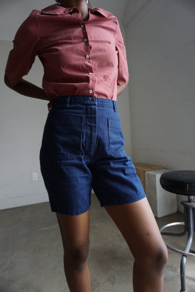 SALE High Waisted Navy Shorts, Multiple Sizes