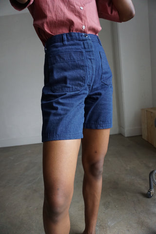 High Waisted Navy Shorts, Multiple Sizes