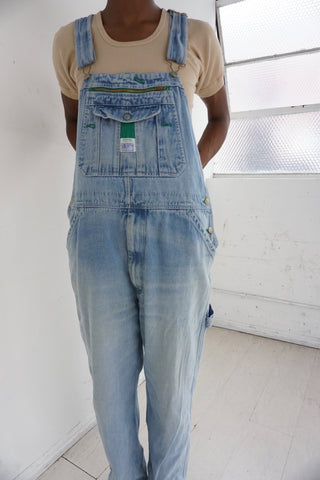 90s Liberty Brand Light Denim Overalls, Sz. 34 Waist
