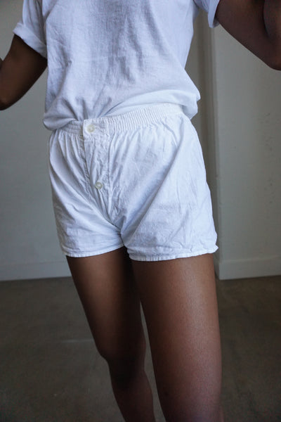 White Cotton Shorts, Multiple Sizes