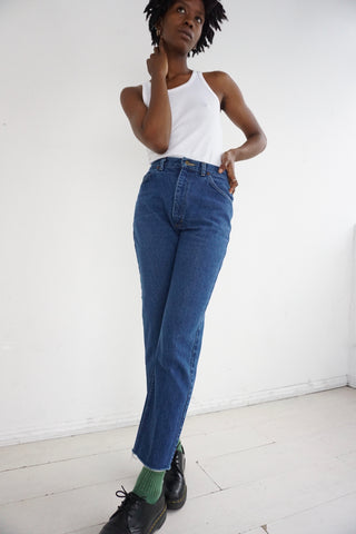 80s Raw Hem Lee Rider Jeans Sz. 27 x 28.5