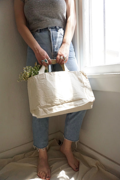 SALE Canvas Market Tote