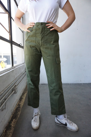 High Waisted U.K. Army Pants, Sz. 30 x 28.5