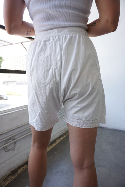"1920s High Waist Cotton Bloomer Shorts, Sz. 28"" Waist"