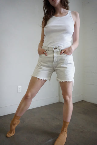 White Levi's 501 Cutoff Shorts, Sz. 30