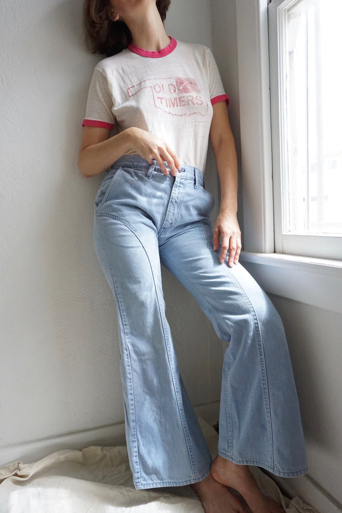 70s Levi's U Back Bell Bottoms, Sz. 29.5 x 29