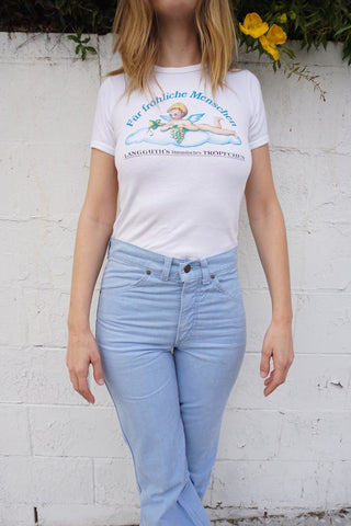 80s German Graphic Angel Tee Sz. XS