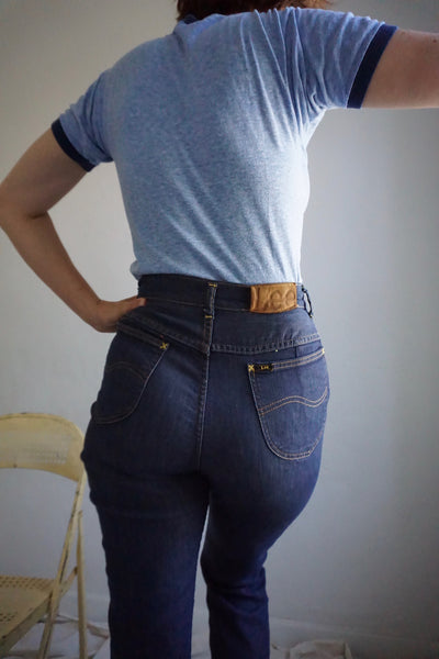 SALE High Waisted Lee Rider Jeans Vintage 1960s, Sz. 27 x 29