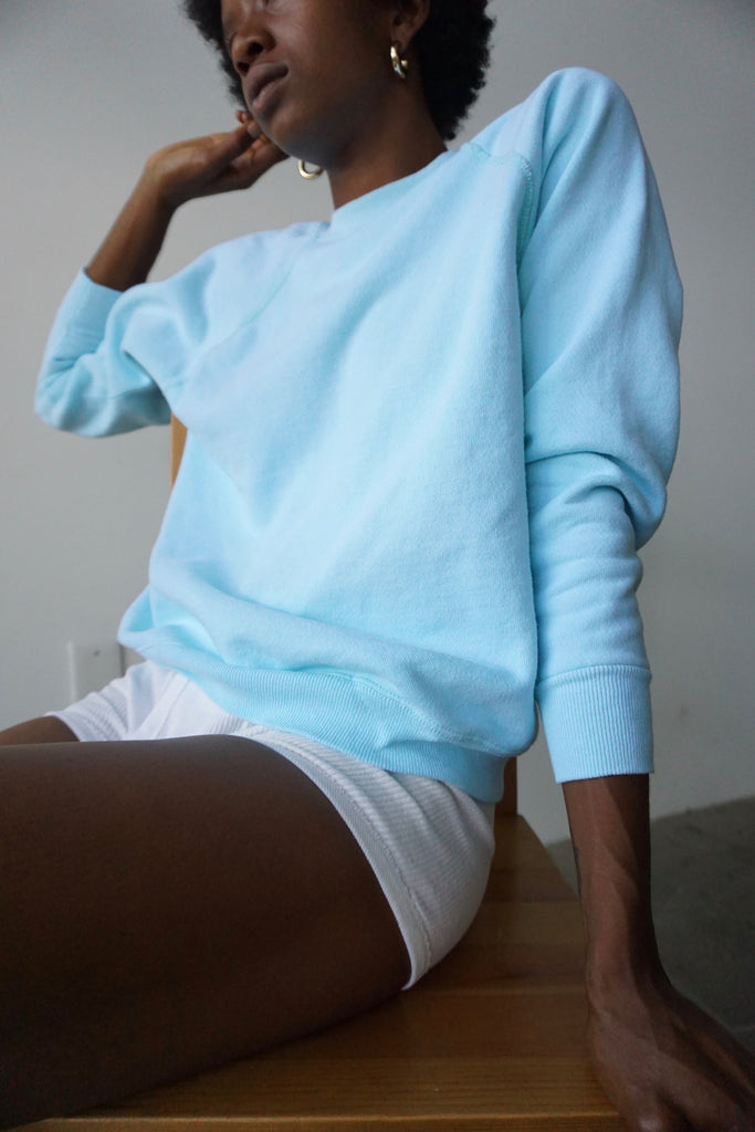 80s Aqua Sweatshirt, Multiple Sizes