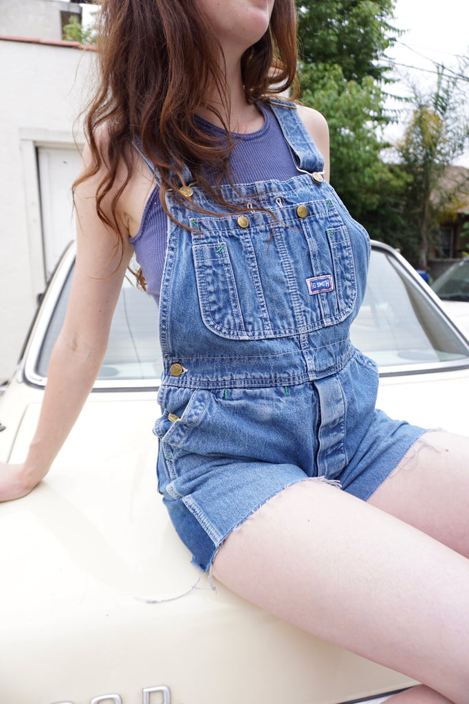 SALE Denim Overall Shorts, Sz. 29 Waist