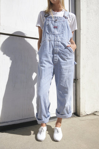Conductor Stripe Overalls Big Mac Brand Up to Sz. 33 Waist