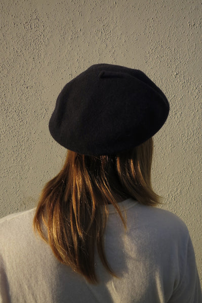 SALE Navy Wool Beret, One Size