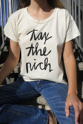 SALE Tax the Rich T-shirt by Amy Jo Diaz