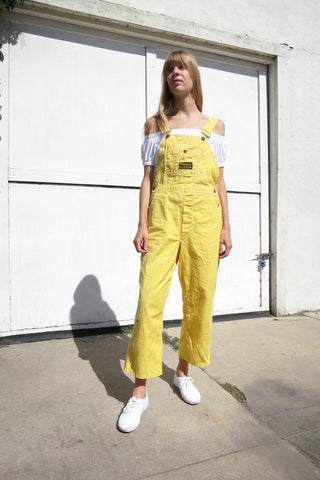 Overalls Yellow Cotton Washington Dee Cee Up to Sz. 29 Waist