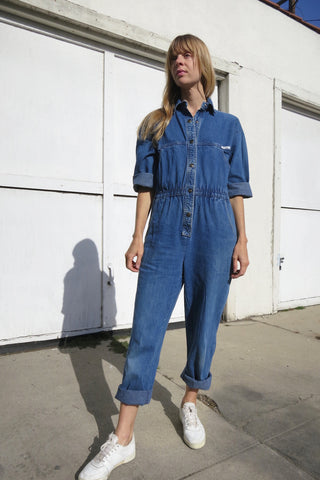 Denim Jumpsuit Vintage 80s Sz. M