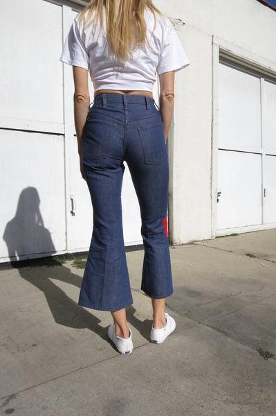 SALE 70s Bell Bottom Jeans Patched Sz. 25 Waist