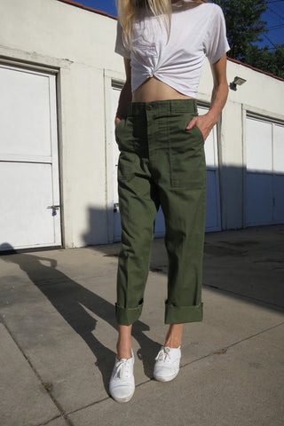 Army Pants High Waist Sz. 28.5 Waist
