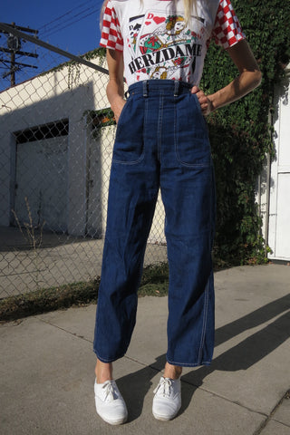 1950s Jeans High Waist Ranch Wear Sz. 25.5 - 26 x 28.5