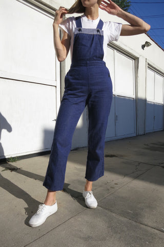 60s Chambray Overalls Up to Sz. 26 Waist