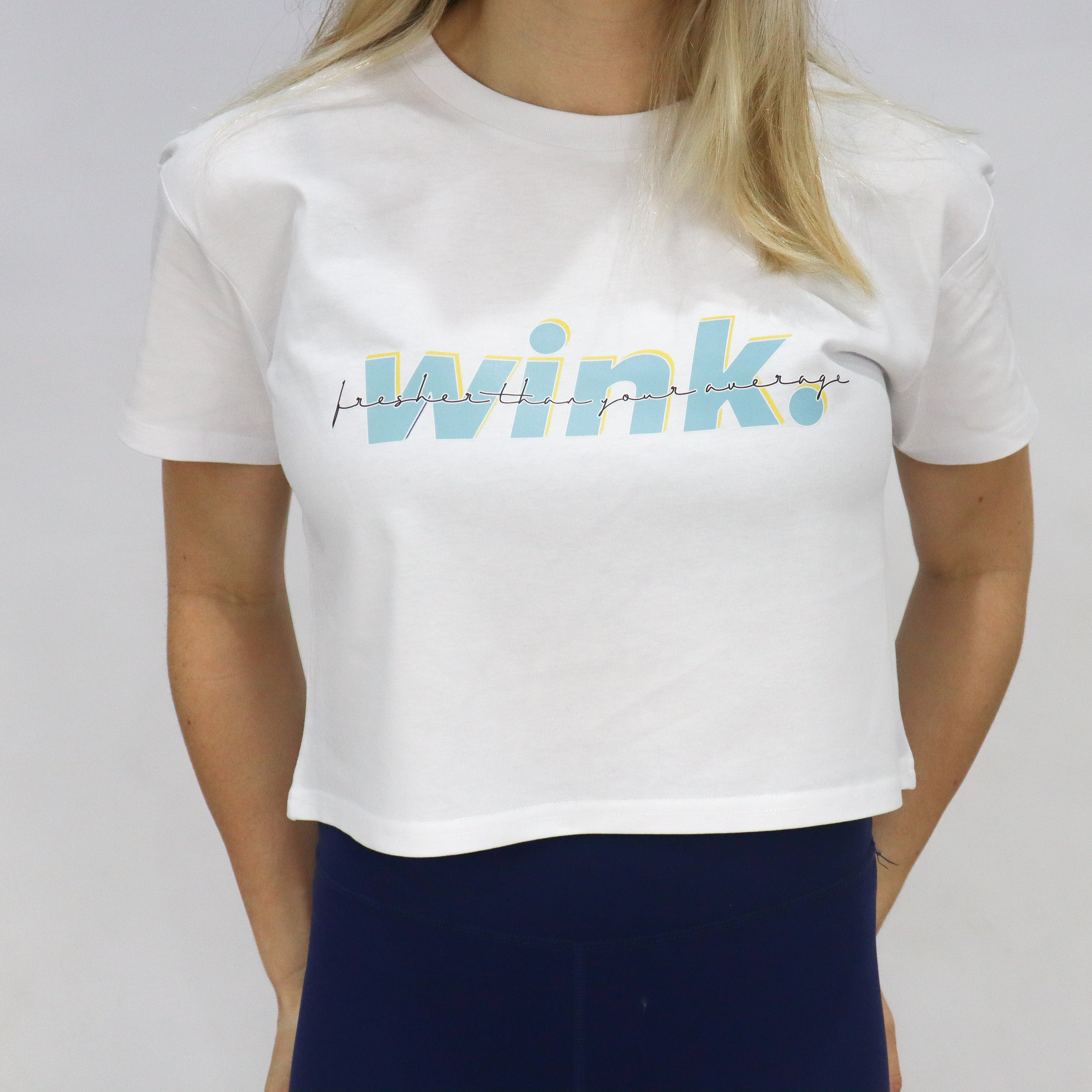 Lucia Cropped Tee - Miami White