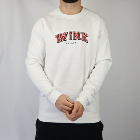 Harvard Crewneck Sweater - White