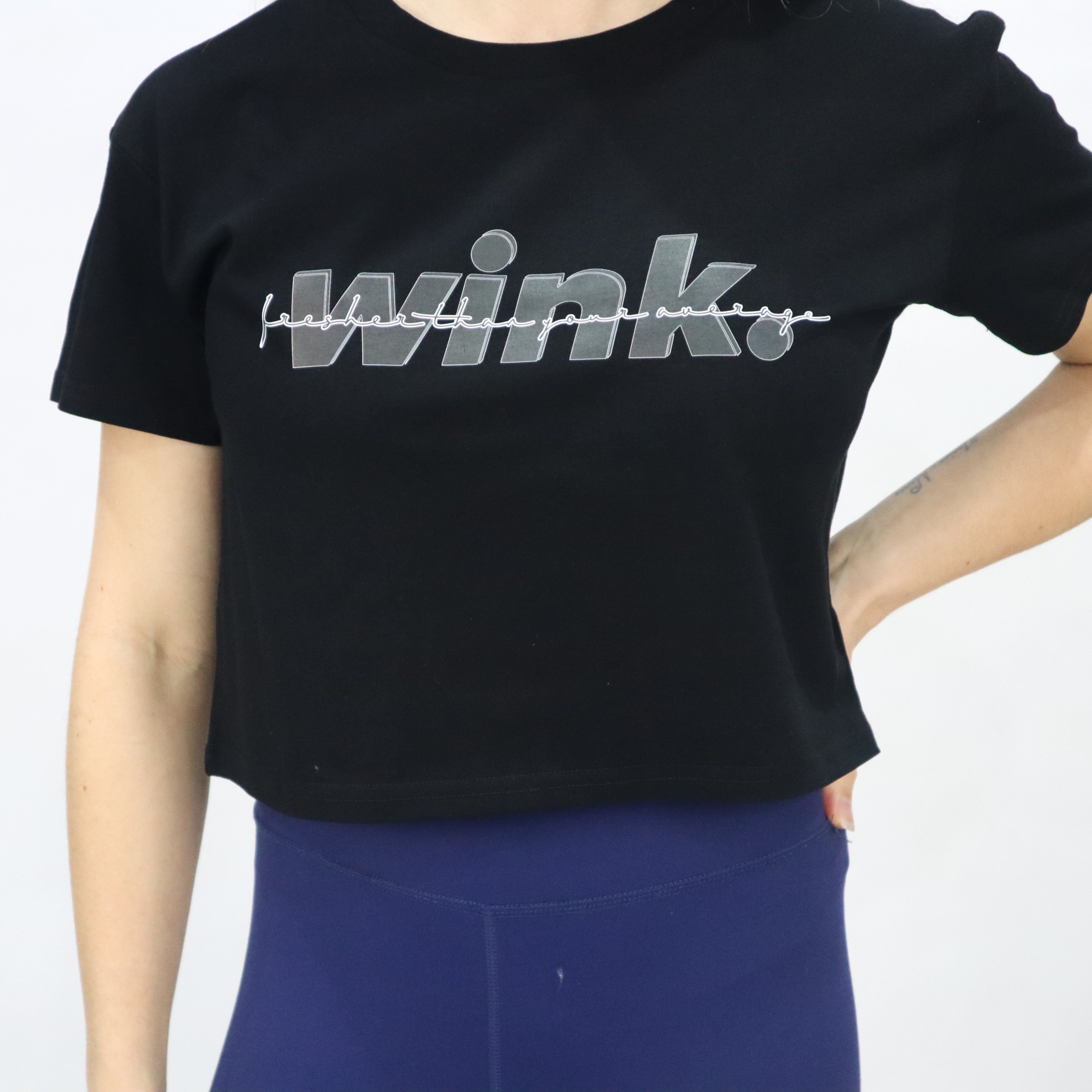 Lucia Cropped Tee - Black