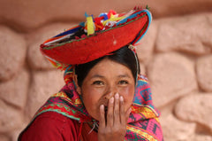 Peruvian lady smiling