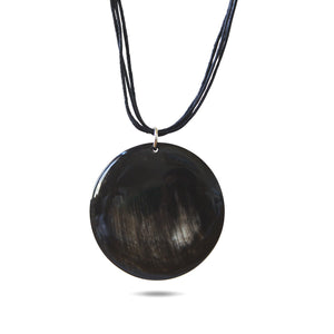 Bull Horn Eco Necklace - Dark Shadow