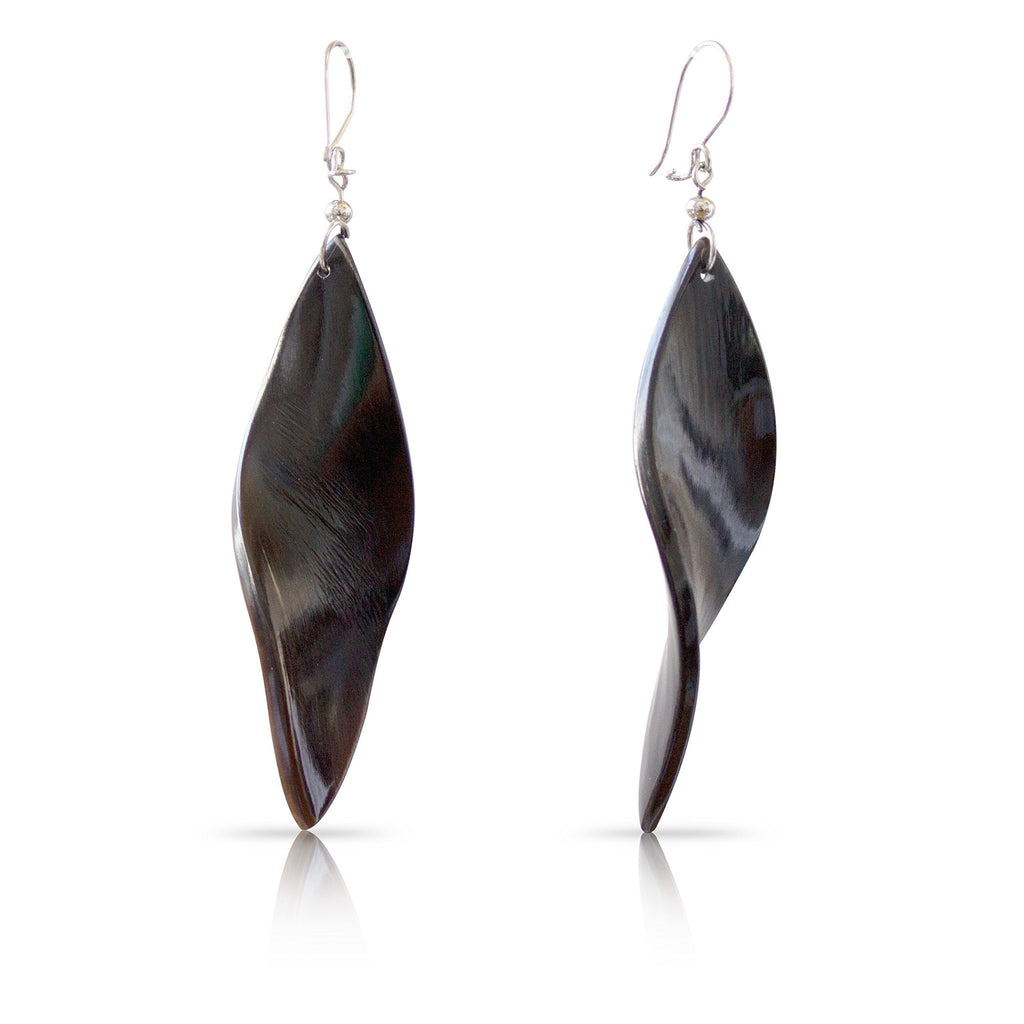 Bull Horn Eco Earrings - Mixed Curves