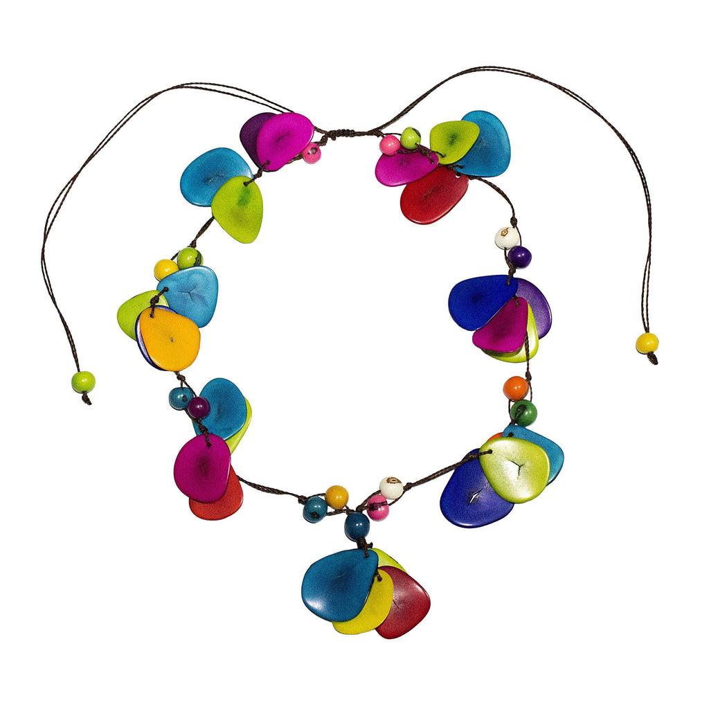 Tagua Rainbow Necklace