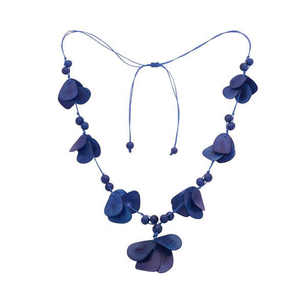 Tagua  Blue Necklace