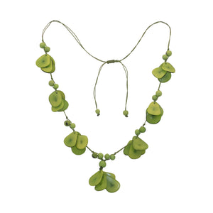 Tagua Green Necklace