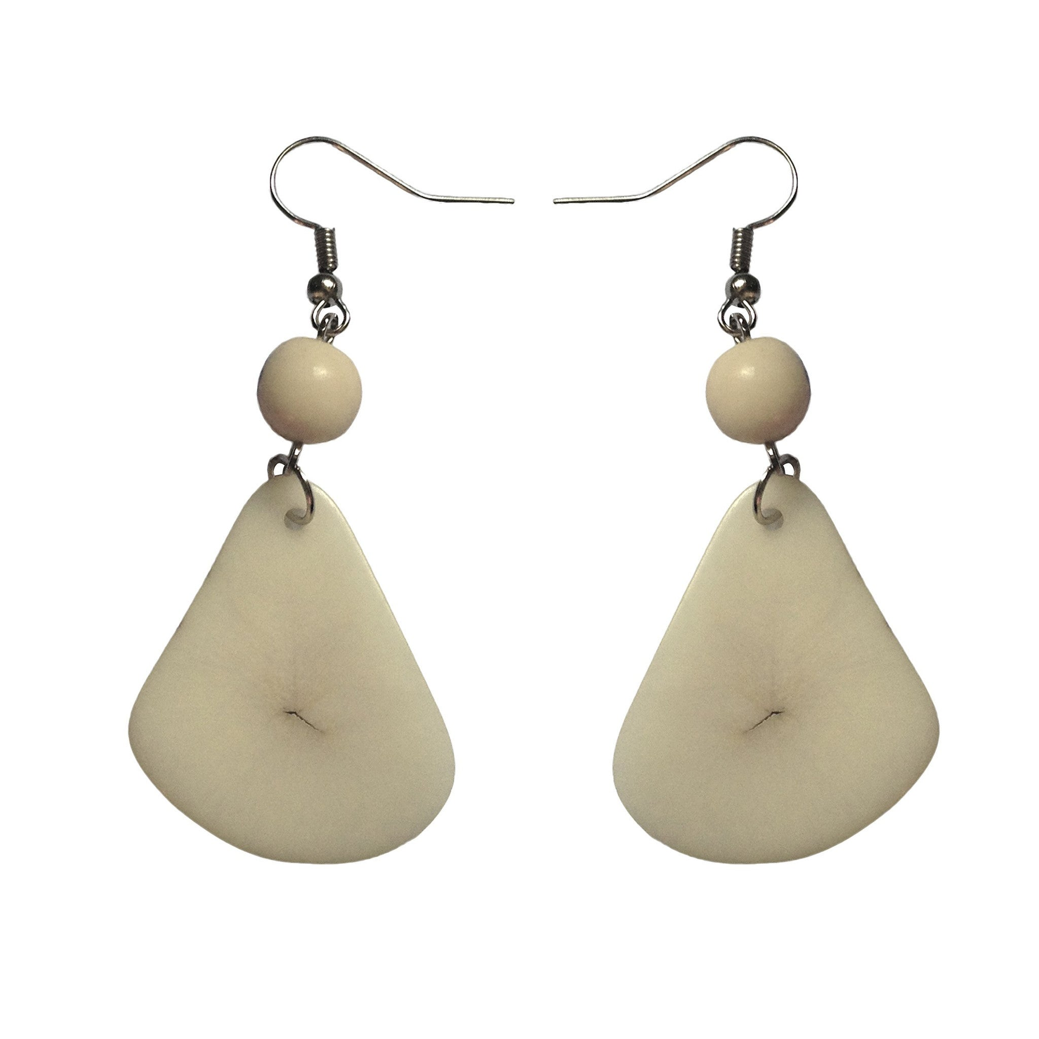 Natural Stone Tagua Earring