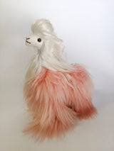 Peruvian Alpaca Bicolor Pink Stuffed Animal