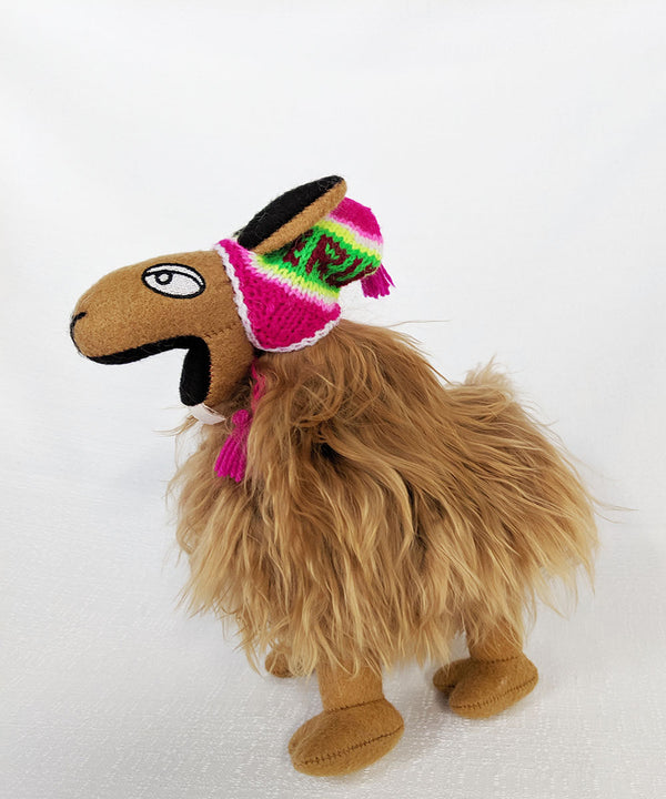Authentic Peruvian Llama Light Brown