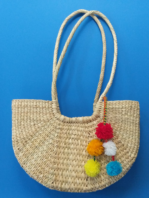 Natural Summer Straw Purse