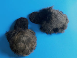 Alpaca Slipper Suri Black