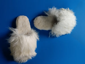 Alpaca Slipper Suri White