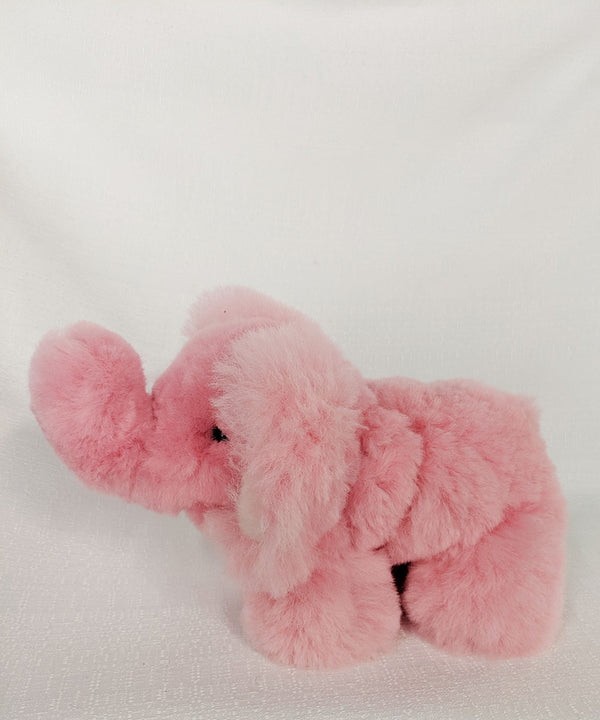 Peruvian Alpaca Elephant Pink Stuffed Animal
