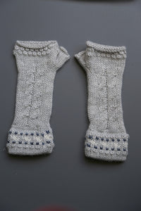 Alpaca Gloves Chain Grey