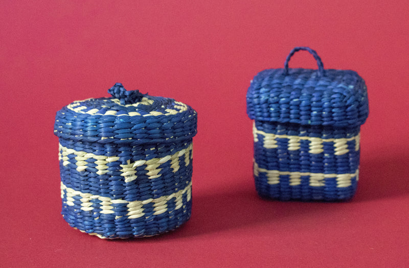 Mini Jewelry  Round Box Blue