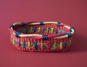 Red Basket Hand Woven