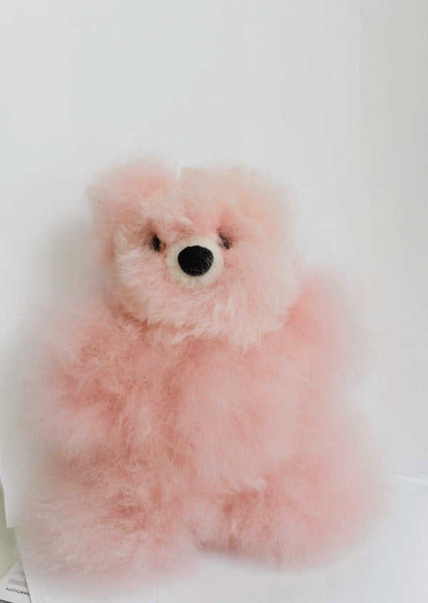 Alpaca Stuffed Pink Bear Small