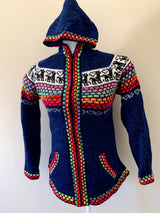 Chincheros Sweater Blue  w/ Zipper