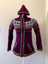 Chincheros Sweater Morado w/ Zipper