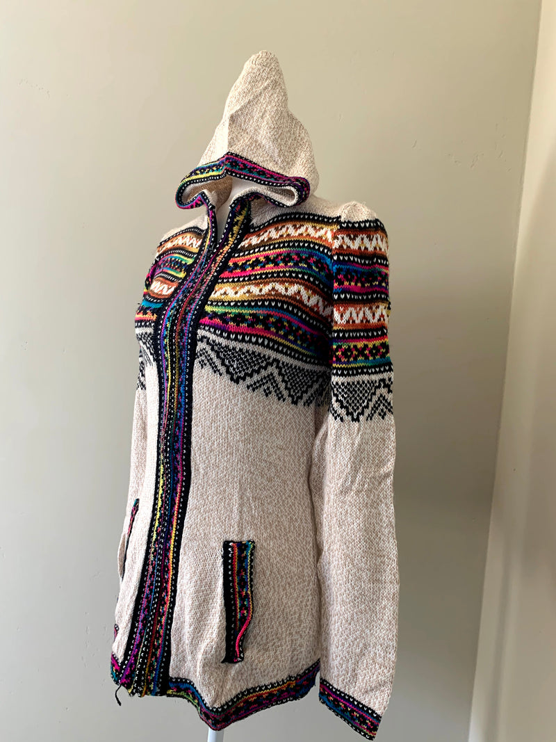 Chincheros Sweater Multicolor  w/ Zipper