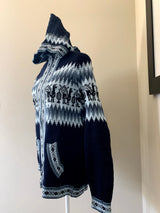 Chincheros Sweater Dark Blue or Black  w/ Zipper