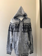 Chincheros Sweater Grey and Black w/ Zipper